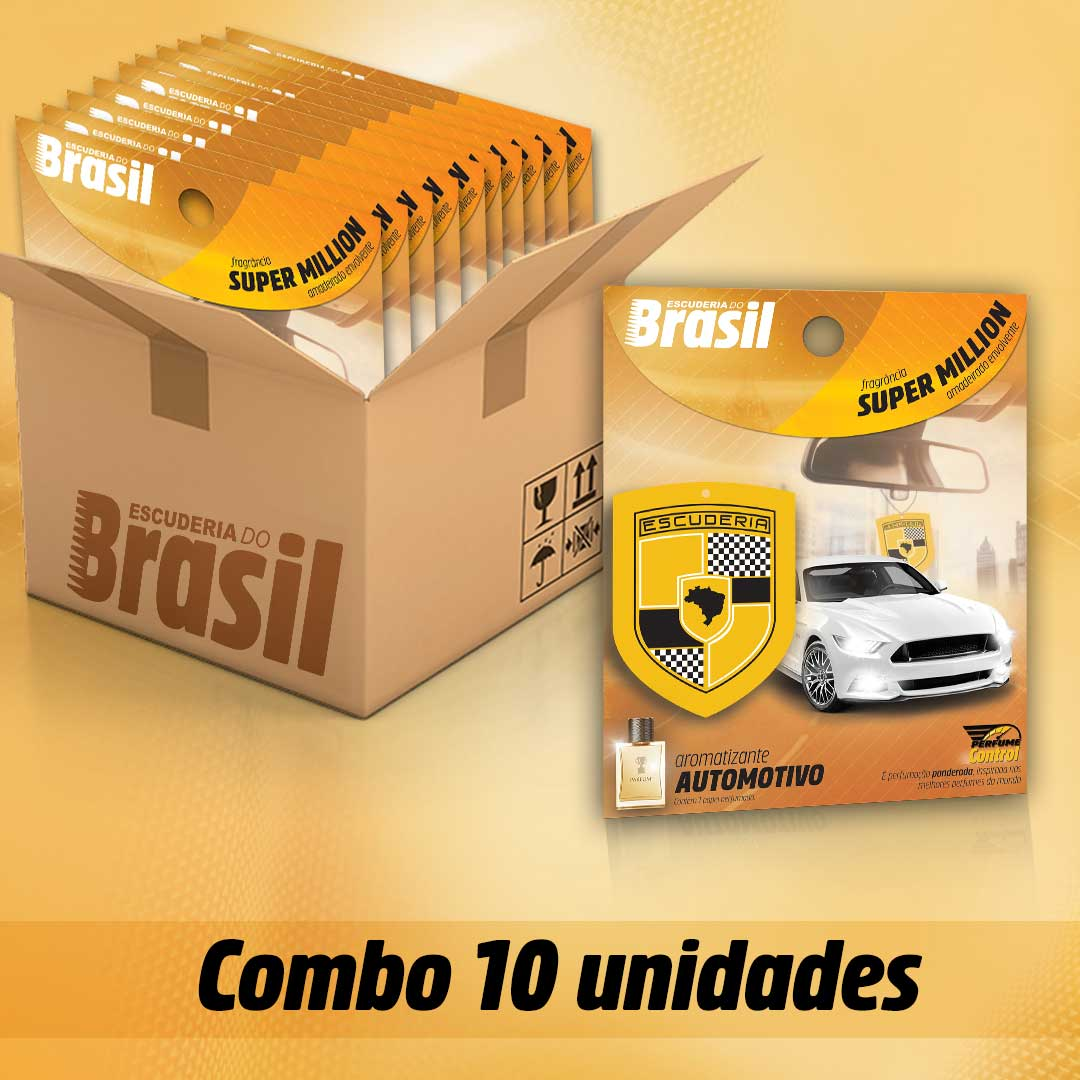 Combo 10 unidades Super Million PC  - Escuderia do Brasil