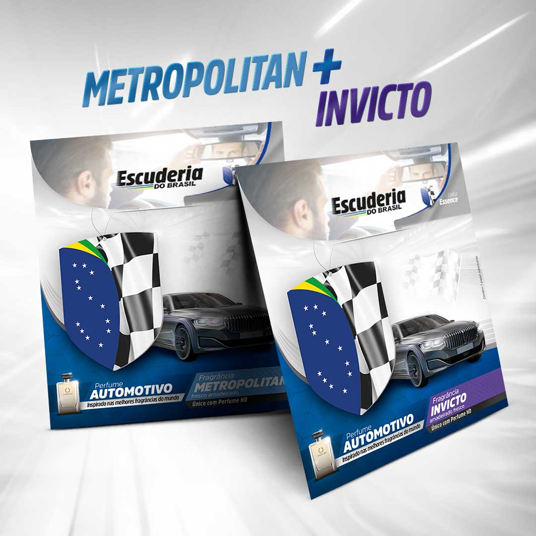 Kit Metropolitan + Invicto Essence  - Escuderia do Brasil