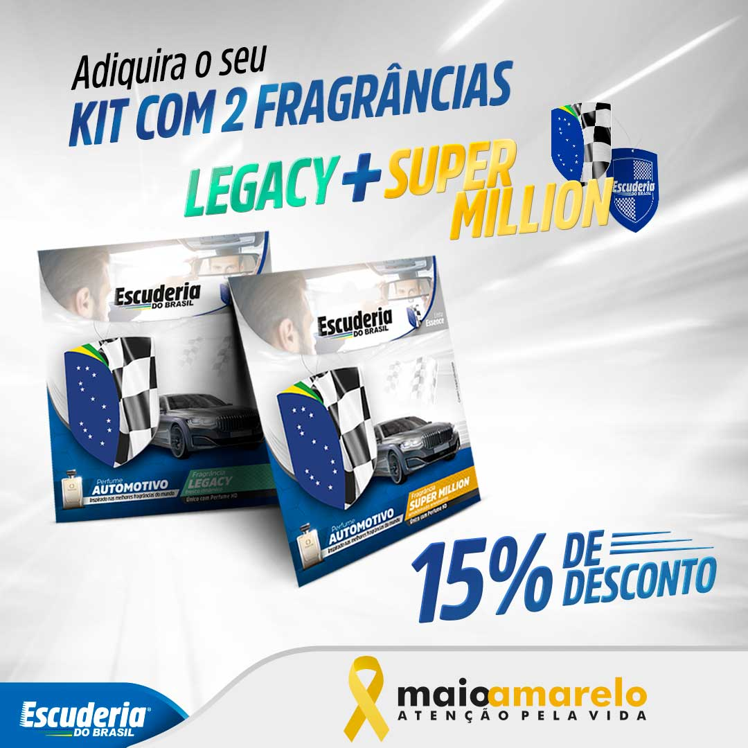 Kit Legacy + Super Million Essence  - Escuderia do Brasil
