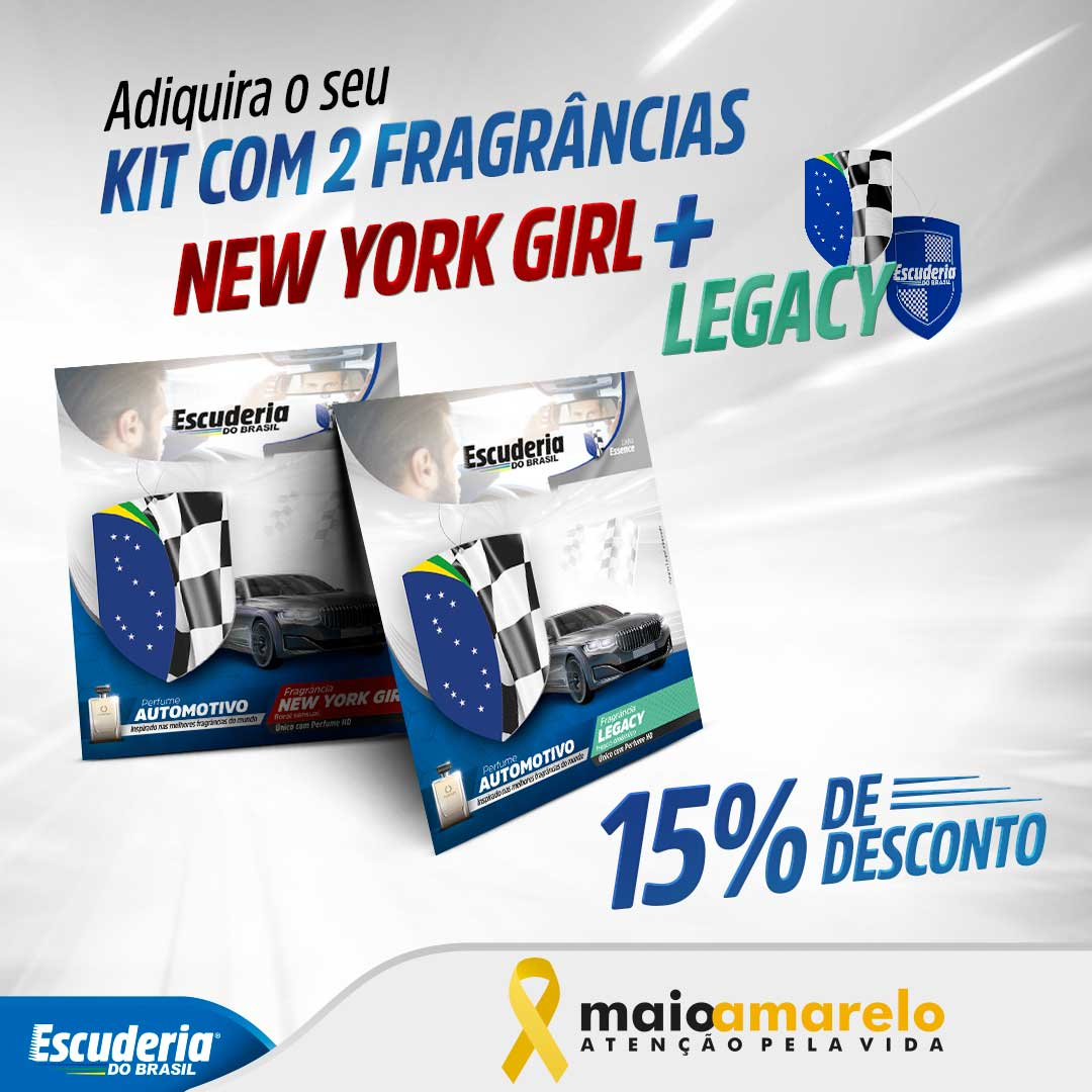 Kit New York Girl + Legacy Essence  - Escuderia do Brasil
