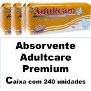 Absorvente Adultcare premium caixa com 240 unidades