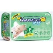 Fralda Estrelinha baby tam P com 100 unidades