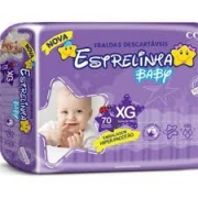 Fralda Estrelinha baby tam XG com 70 unidades