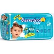 Fralda Estrelinha baby tam XXG com 56 unidades