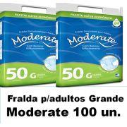 Fralda Moderate Grande caixa com 100 unidades