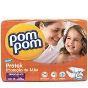 Fralda Pom Pom Protek proteção de mãe tam Grandinhos com 14 unidades