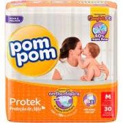 Fralda Pom Pom Protek proteção de mãe tam. M com 30 unidades