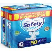 Fralda Safety confort Grande com 50 unidades