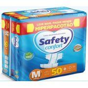 Fralda Safety Médio com 50 unidades