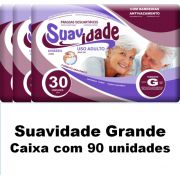 Fralda Suavidade Grande caixa com 90 unidades