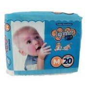 Fralda Tigrinhos baby M com 20 unidades