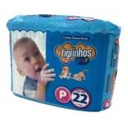 Fralda Tigrinhos baby P com 22 unidades
