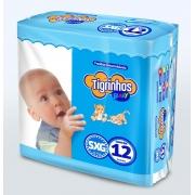 Fralda Tigrinhos baby SXG com 12 unidades