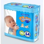 Fralda Tigrinhos baby XG com 140 unidades - 10 pacotes com 14 un.