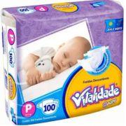 Fralda Vitalidade baby tamanho P com 100 unidades