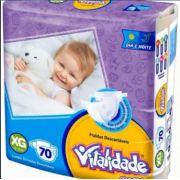 Fralda Vitalidade baby tamanho XG com 70 unidades
