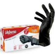 Luva Vabene viniflex Média com 100 unidades BLACK