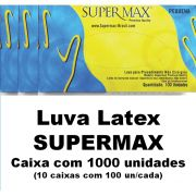 Luvas de látex com pó Supermax Médio caixa com 1000 unidades