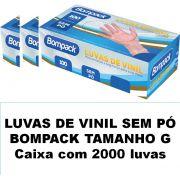 Luvas de vinil sem pó Bompack Grande caixa com 2000 unidades