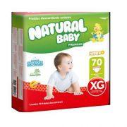 Natural baby Hyper+ premium Extra-Grande com 70 unidades