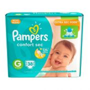 Pampers Confort sec Grande com 38 unidades