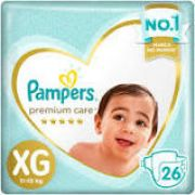 Pampers Premium care XG com 26 unidades