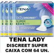 Tena lady discreet Super caixa co 64 unidades