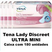 Tena lady discreet Ultra Mini caixa com 180 unidades