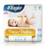 Troca-Fralda lençol protetor com 6 unidades 80cmX60cm Affagio