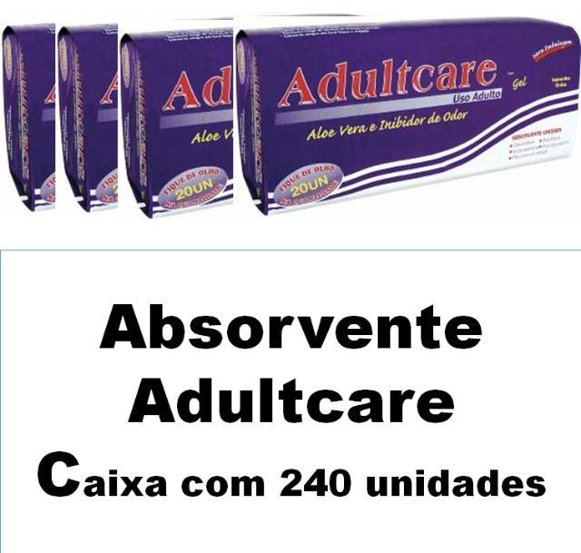Absorvente Adultcare unissex caixa com 240 unidades