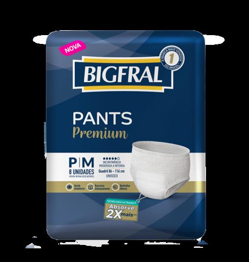 Bigfral PANTS Premium P/M com 8 unidades
