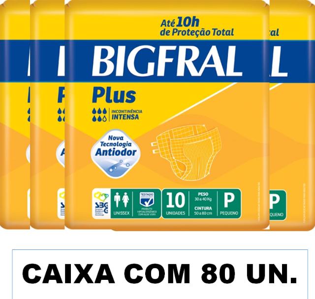 Bigfral plus Pequena caixa com 80 unidades