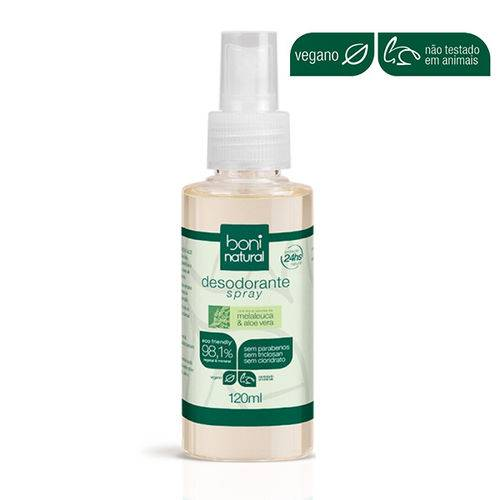 Desodorante spray Boni Natural malaleuca & toranja 120ml