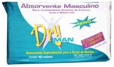Dryman absorvente masculino com 10 unidades
