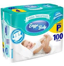 Fralda Enzzo baby tam P com 100 unidades