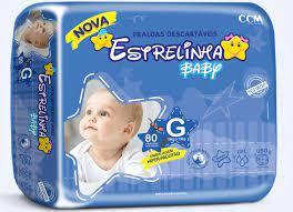 Fralda Estrelinha baby tam G com 80 unidades