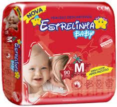 Fralda Estrelinha baby tam M com 90 unidades