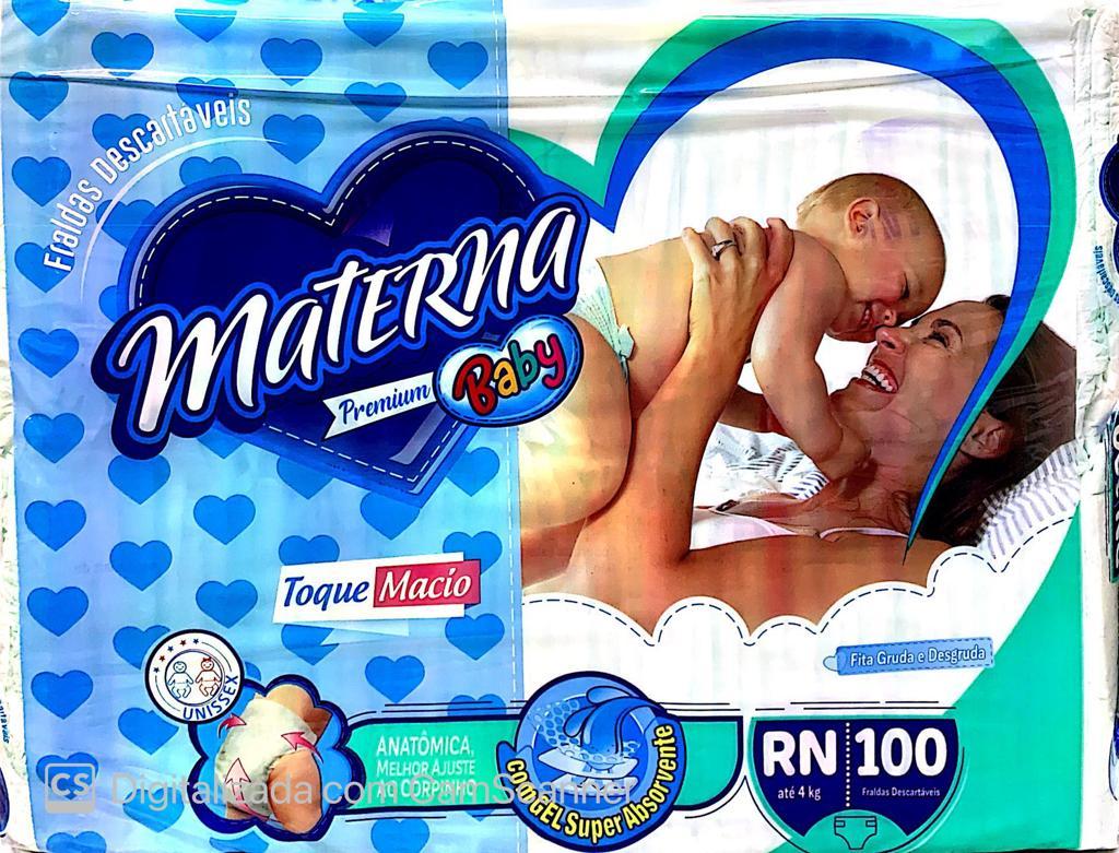 Fralda Materna Premium baby RN com 100 unidades
