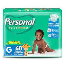 Fralda Personal soft & protect  tam. GRANDE com 60 unidades