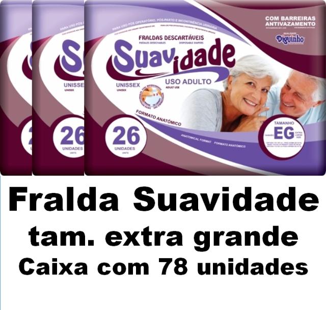 Fralda Suavidades Extra-Grande caixa com 78 unidades
