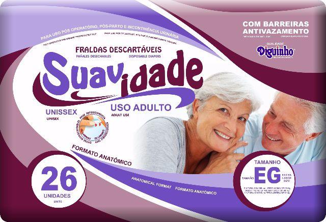 Fralda Suavidade Extra-Grande com 26 unidades