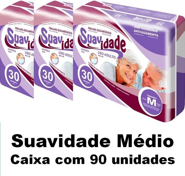 Fralda Suaviadade Médio caixa com 90 unidades