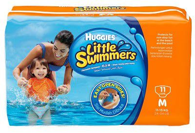 Huggies Little Swimmers Médio com 11 unidades