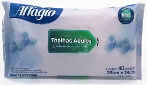 Lenço Umedecido adulto AFFAGIO com 40 unidades