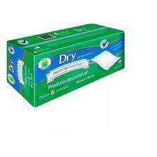 Lençol protetor  multiuso Dry economics com 6 unidades