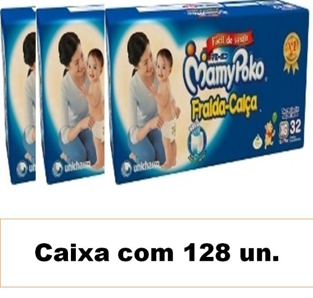 Mamypoko fralda-calça Extra-Grande caixa com 128 unidades