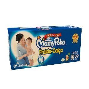 Mamypoko fralda-calça Extra-Grande com 32 unidades