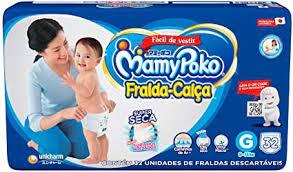 Mamypoko fralda-calça Grande com 32 unidades