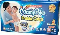 Mamypoko fralda-calça Médio com 42 unidades
