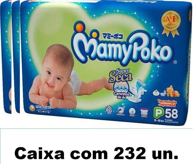 Mamypoko Super seca Pequeno caixa com 232 unidades